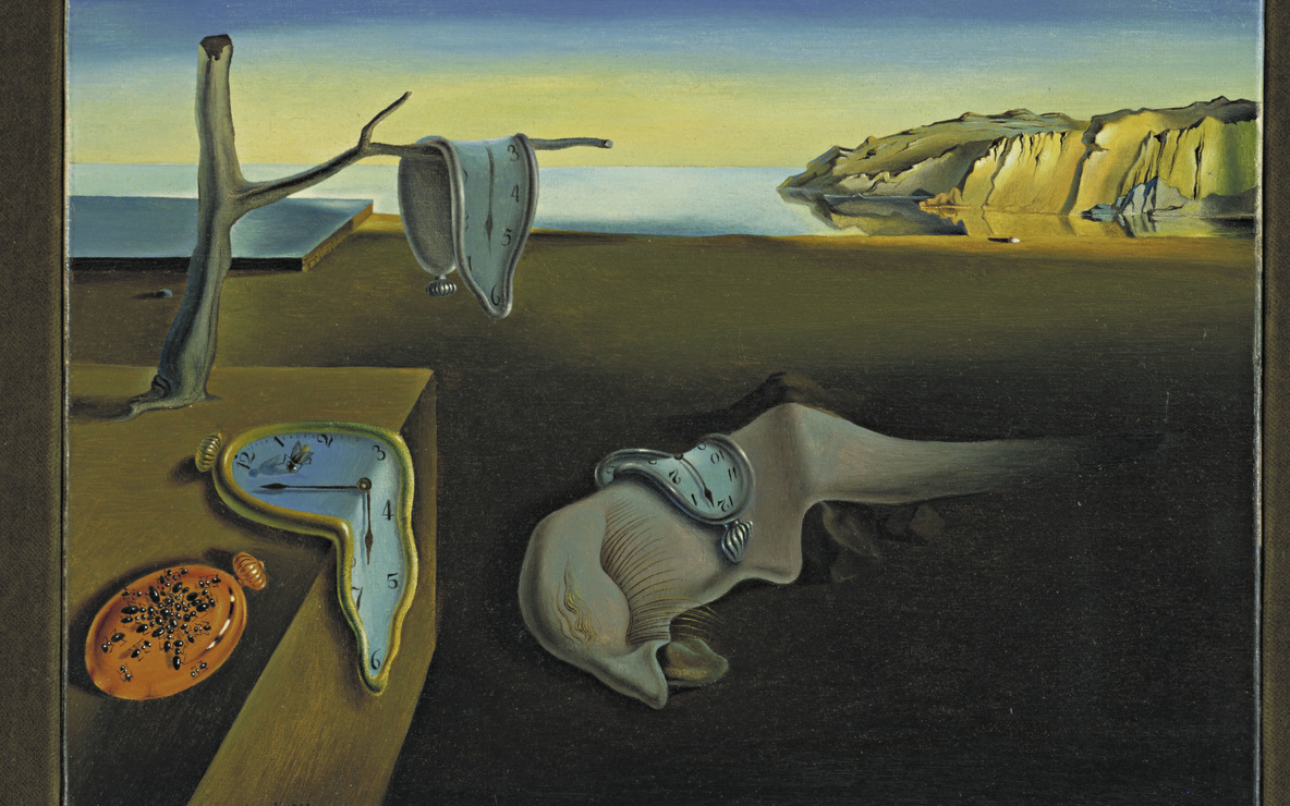 "Salvador Dalí. *The Persistence of Memory*. 1931. Oil on canvas, 9 1/2 x 13"" (24.1 x 33 cm). The Museum of Modern Art, New York. Given anonymously. © 2015 Salvador Dalí, Gala-Salvador Dalí Foundation/Artists Rights Society (ARS), New York"