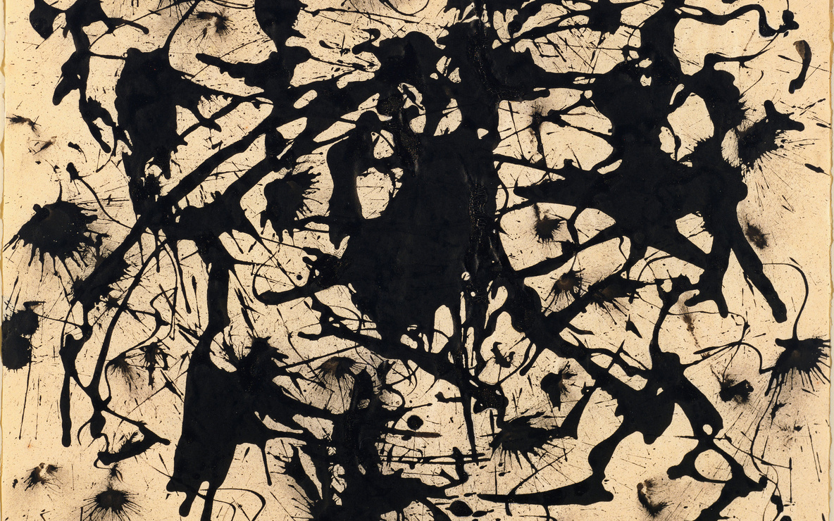 "Jackson Pollock. *Untitled*. c. 1950. Ink on paper, 17 1/2 x 22 1/4"" (44.5 x 56.6 cm). The Museum of Modern Art, New York. Gift of Jo Carole and Ronald S. Lauder in honor of Eliza Parkinson Cobb, 1982. © 2015 Pollock-Krasner Foundation/Artists Rights Society (ARS), New York"