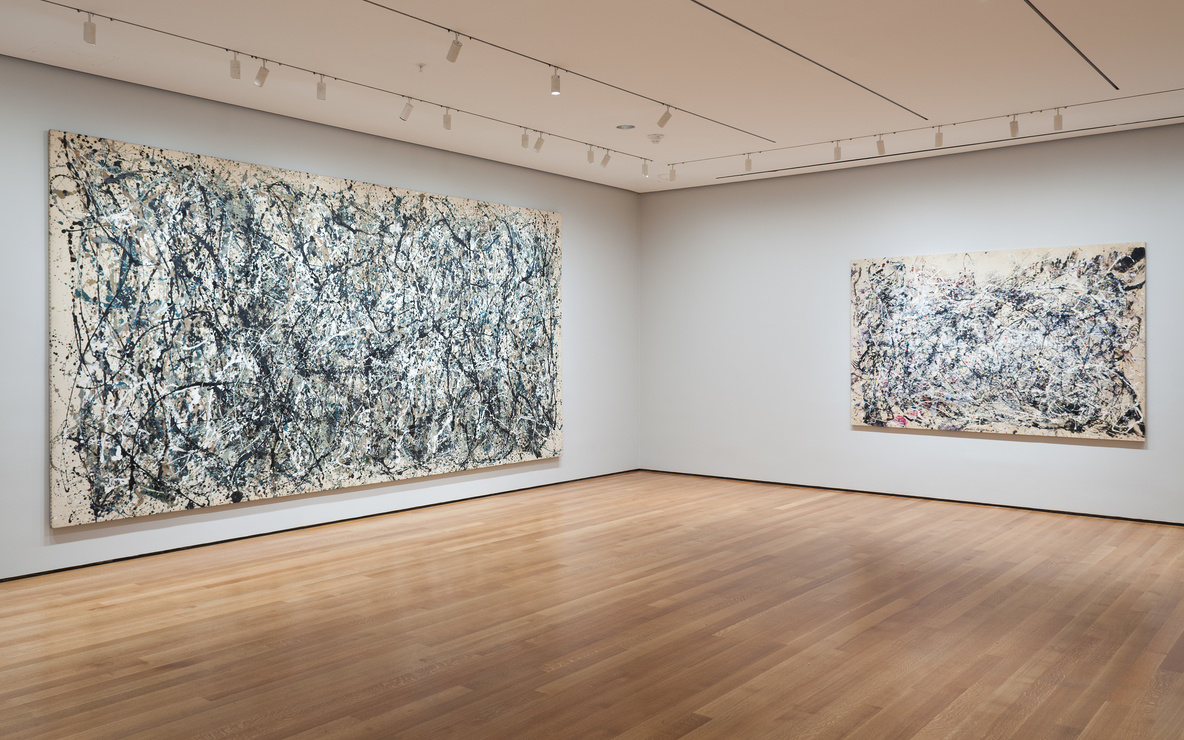 Installation view of *Jackson Pollock: A Collection Survey, 1934–1954* at The Museum of Modern Art, New York (November 22, 2015–March 13, 2016). Photo by Thomas Griesel. © 2015 The Museum of Modern Art, New York