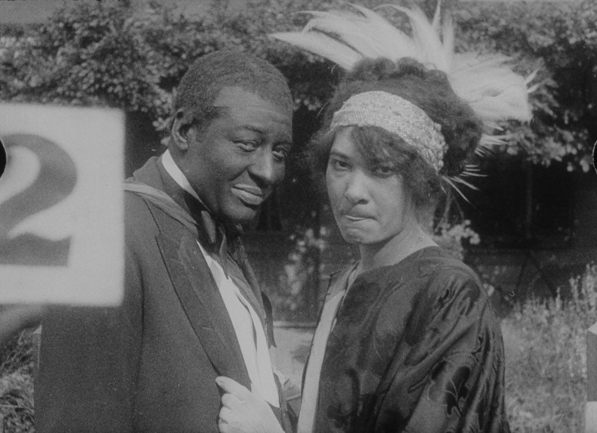 Production still from Lime Kiln Club Field Day. 1913/2014. Directed by Edwin Middleton, T. Hayes Hunter, Sam Corker Jr.