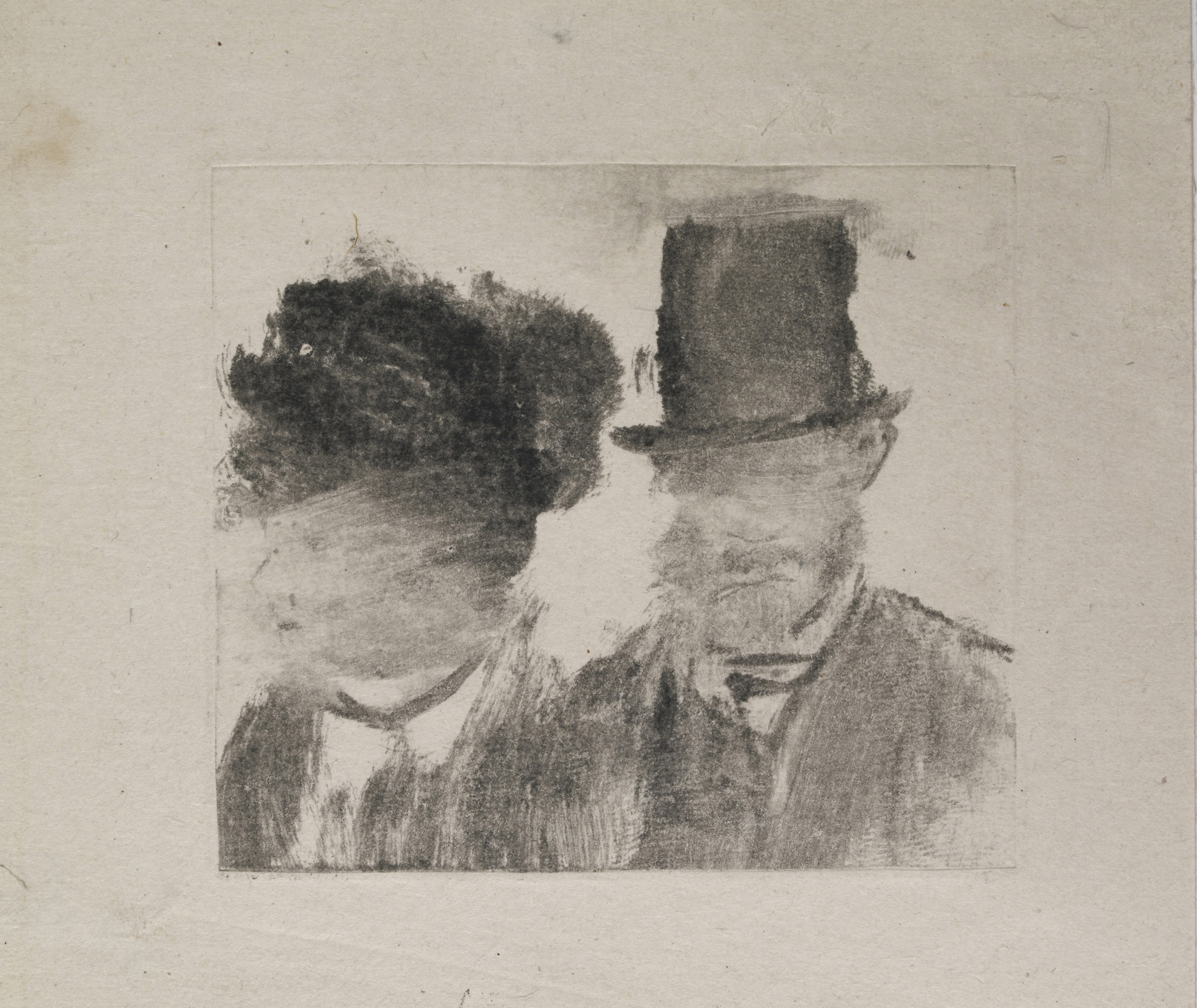Edgar Degas. Heads of a Man and a Woman (Homme et femme, en