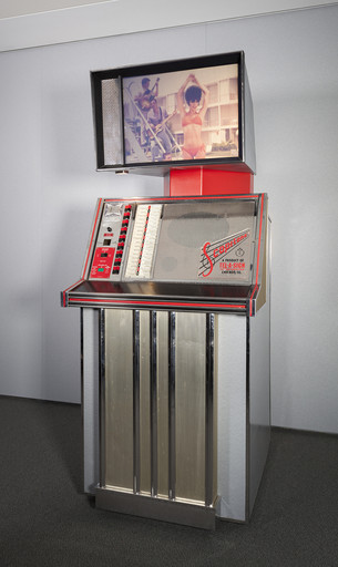 Scopitone ST36. 1963. 16mm film jukebox. Manufacturer: Scopitone, Inc. (a subsidiary of Tel-a-Sign Inc., Chicago). The Museum of Modern Art, New York. Film Study Center Special Collections