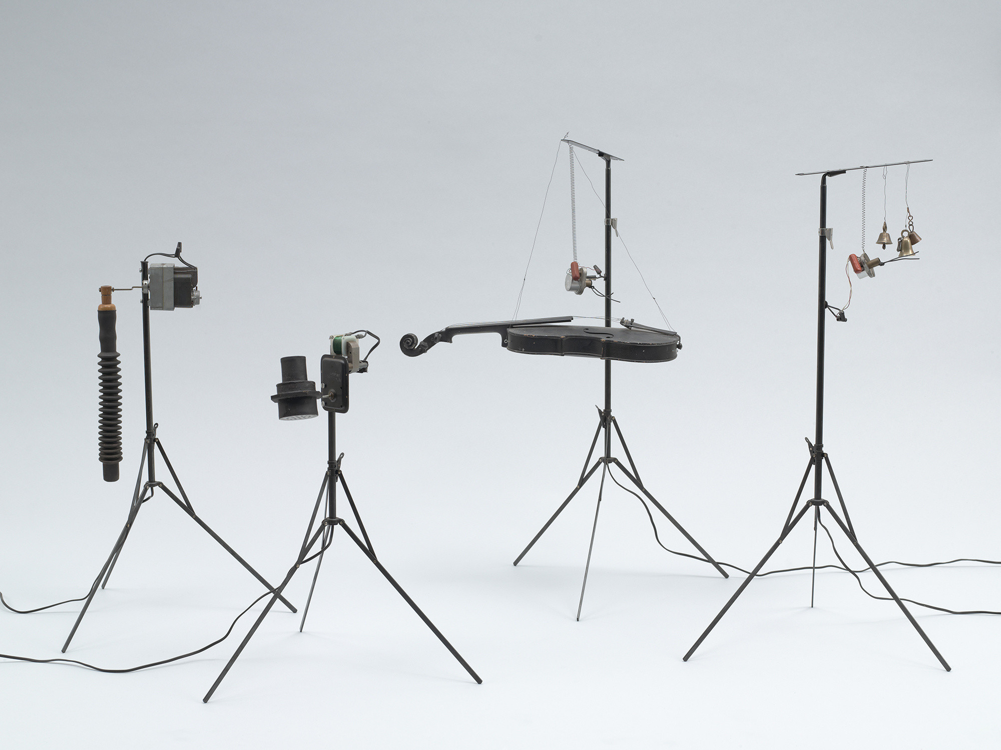 Joe Jones and George Maciunas. Mechanical Flux Orchestra. c. 1964–72. Painted metal, wood, rubber, found objects, electronic components. Publisher: Fluxus, [New York]. The Museum of Modern Art, New York. The Gilbert and Lila Silverman Fluxus Collection Gift, 2008