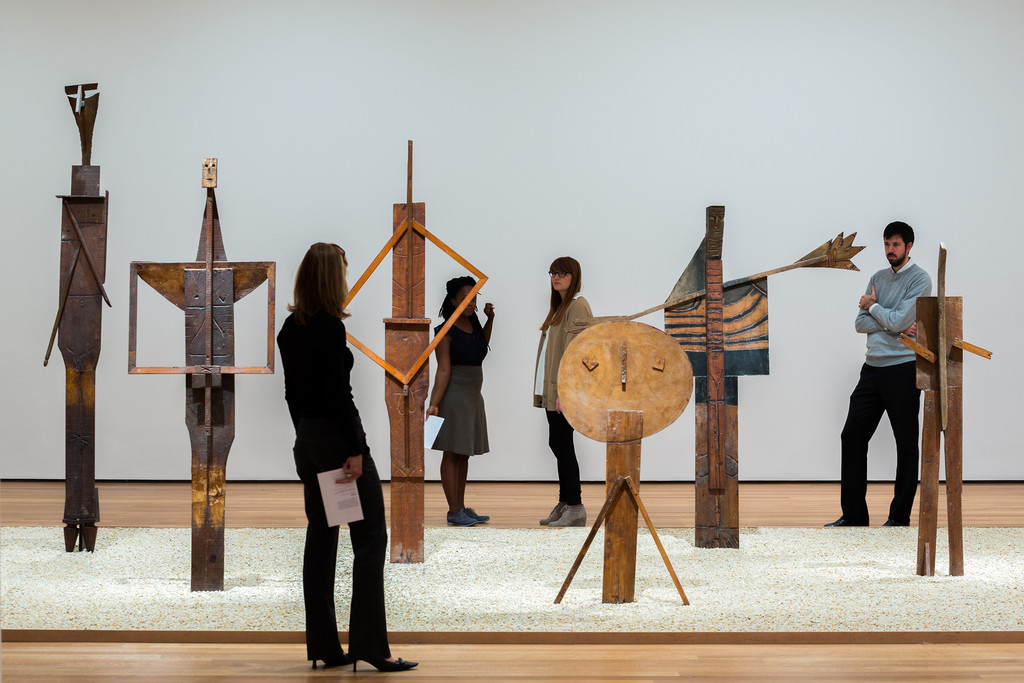 Installation view of *Picasso Sculpture*, The Museum of Modern Art, New York, September 14, 2015–February 7, 2016. © 2016 The Museum of Modern Art. Photo: Pablo Enriquez