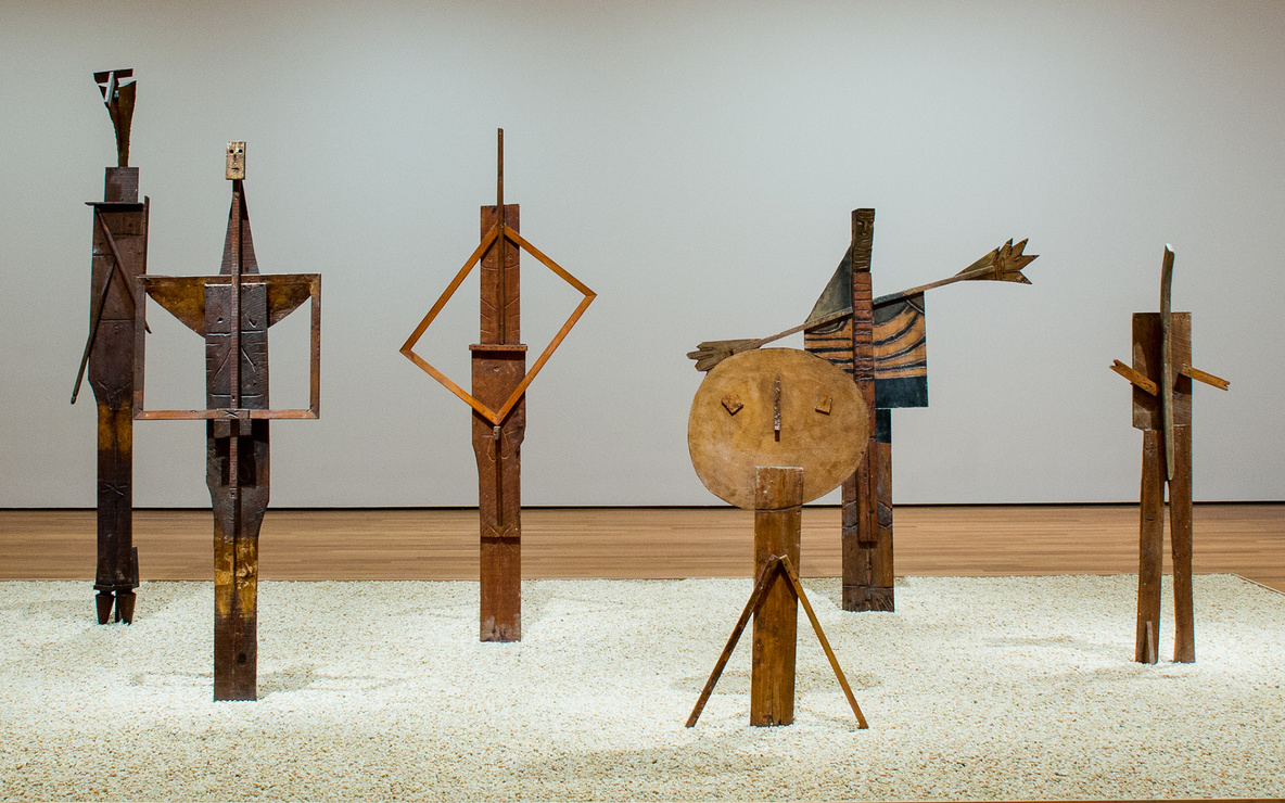 Installation view of *Picasso Sculpture.* The Museum of Modern Art, New York, September 14, 2015–February 7, 2016. © 2015 The Museum of Modern Art. Photo: Pablo Enriquez