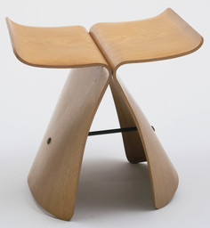 "Sori Yanagi. Butterfly Stool. 1956. Molded plywood and metal, 15½ × 17⅜ × 12⅛"" (39.4 × 44.1 × 30.8 cm). Manufactured by Tendo Co., Ltd., Tokyo. The Museum of Modern Art, New York. Gift of the designer, 1958"