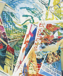 "Martin Kippenberger. *Content on Tour (Inhalt auf Reisen).* 1992. Screenprint mounted on plywood, with unique alterations by the artist, 70 7/8 x 59"" (180 x 150 cm). Publisher and printer: Edition Artelier, Graz, Austria. Edition: 3 this size; 5 for three smaller sizes. Collection Estate Martin Kippenberger, Galerie Gisela Capitain, Cologne. © Estate Martin Kippenberger, Galerie Gisela Capitain, Cologne. Photo: Lothar Schnepf, Cologne"
