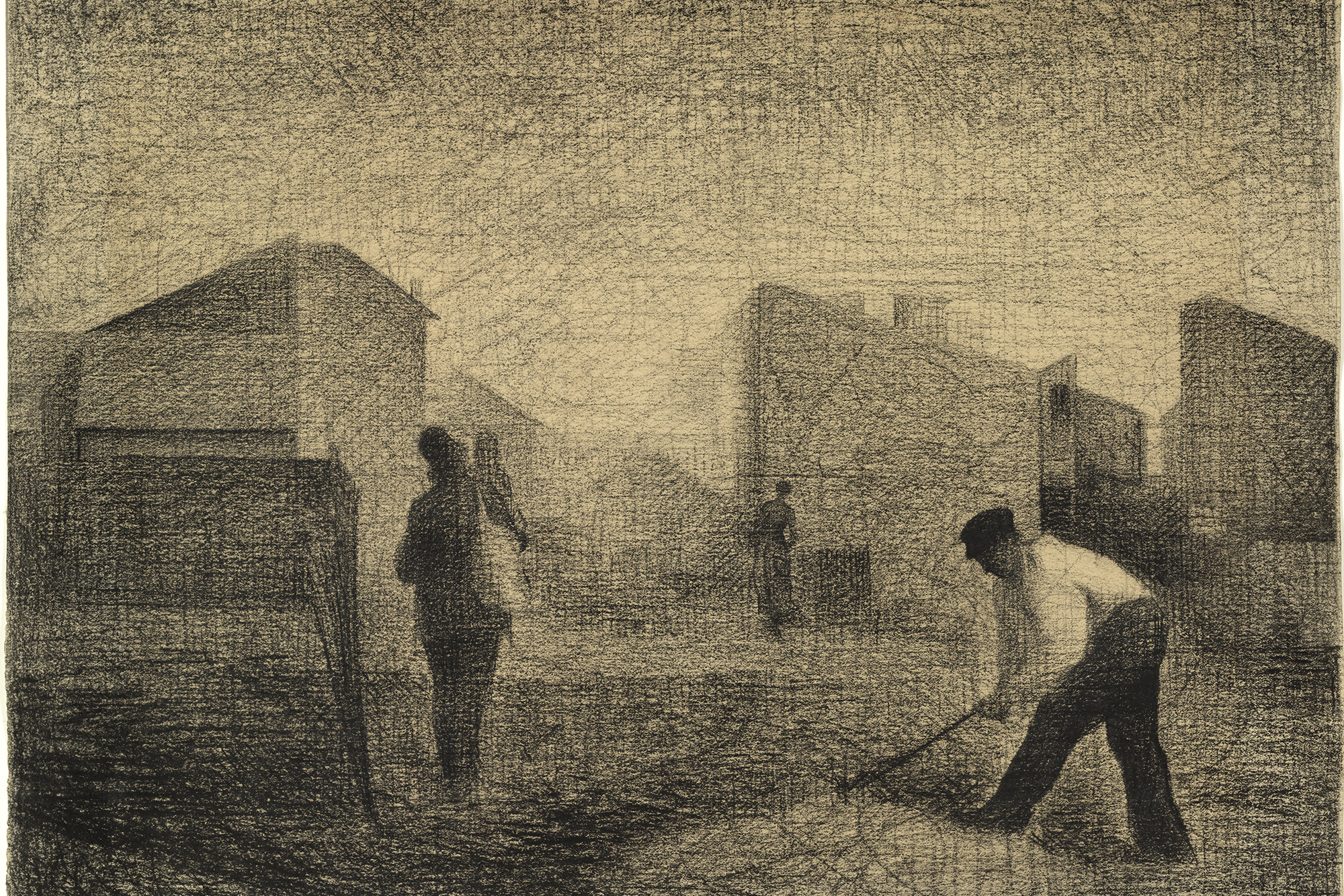 Georges-Pierre Seurat. Stone Breaker, Le Raincy. c. 1879–81. Conté crayon and graphite on paper, 12 1/8 × 14 3/4″ (30.8 × 37.5 cm). The Museum of Modern Art. Lillie P. Bliss Collection