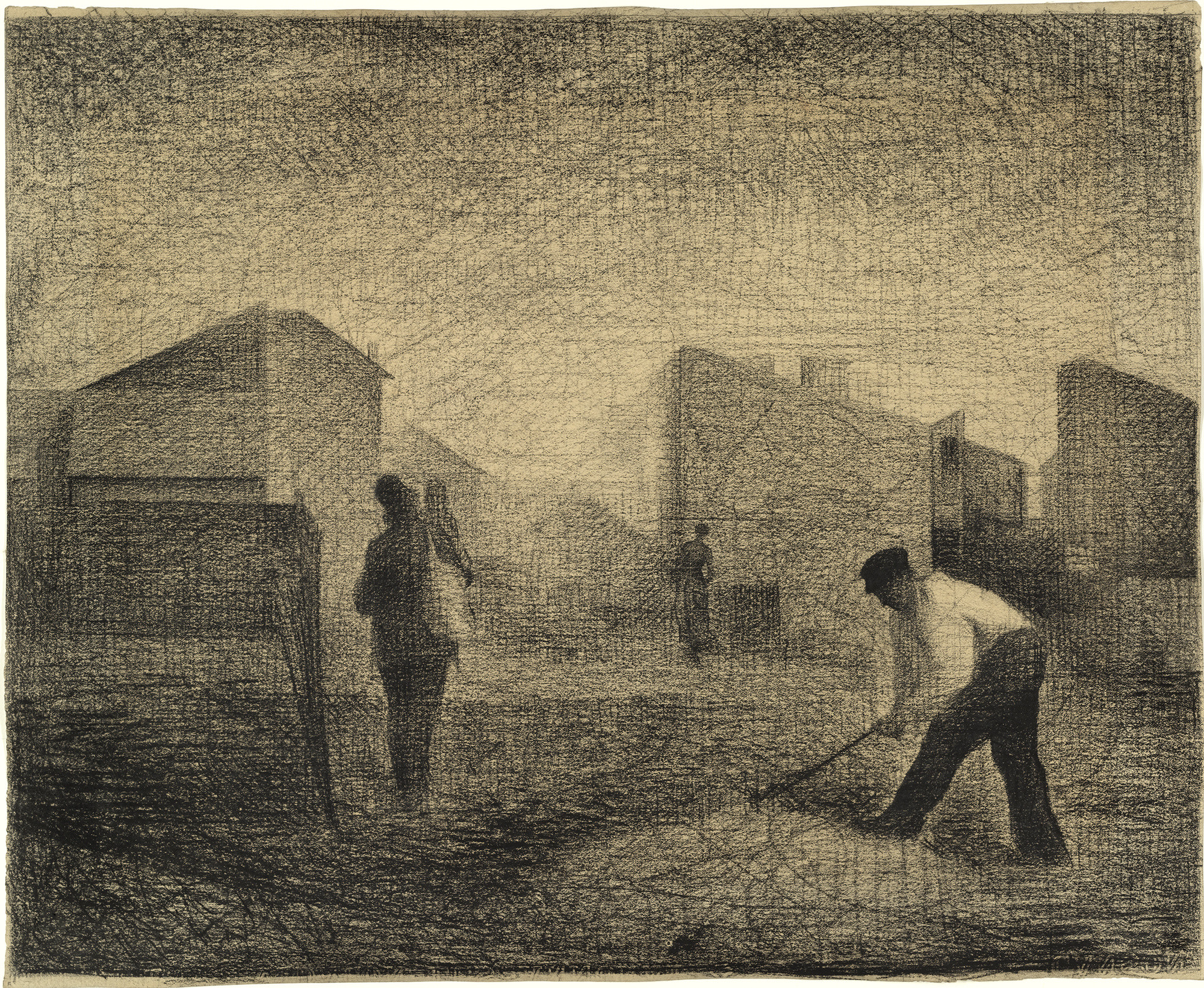 Georges-Pierre Seurat. Stone Breaker, Le Raincy. c. 1879–81. Conté crayon and graphite on paper, 12 1⁄8 × 14 3/4″ (30.8 × 37.5 cm). The Museum of Modern Art. Lillie P. Bliss Collection