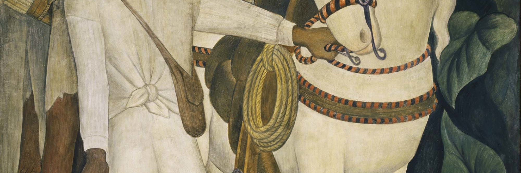 Diego Rivera. <em>Agrarian Leader Zapata</em>. 1931. Fresco, 7' 9 3/4&quot; x 6' 2&quot; (238.1 x 188 cm). The Museum of Modern Art. Abby Aldrich Rockefeller Fund