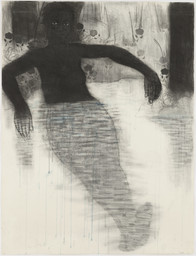 "Kerry James Marshall. Study for Blue Water, Silver Moon. 1991. Conté crayon and watercolor on paper, 49 3/4 x 38 1/8"" (126.4 x 96.8 cm). The Museum of Modern Art. Purchased with General Acquisitions Funds and funds provided by The Friends of Education of The Museum of Modern Art. © 2010 Kerry James Marshall"