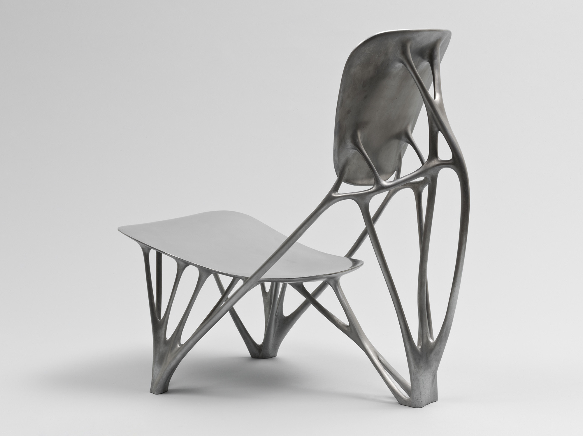 Joris Laarman. Bone Chair. 2006. Aluminum. Manufactured by Joris Laarman Studio, The Netherlands. The Museum of Modern Art. Gift of the Fund for the Twenty-First Century