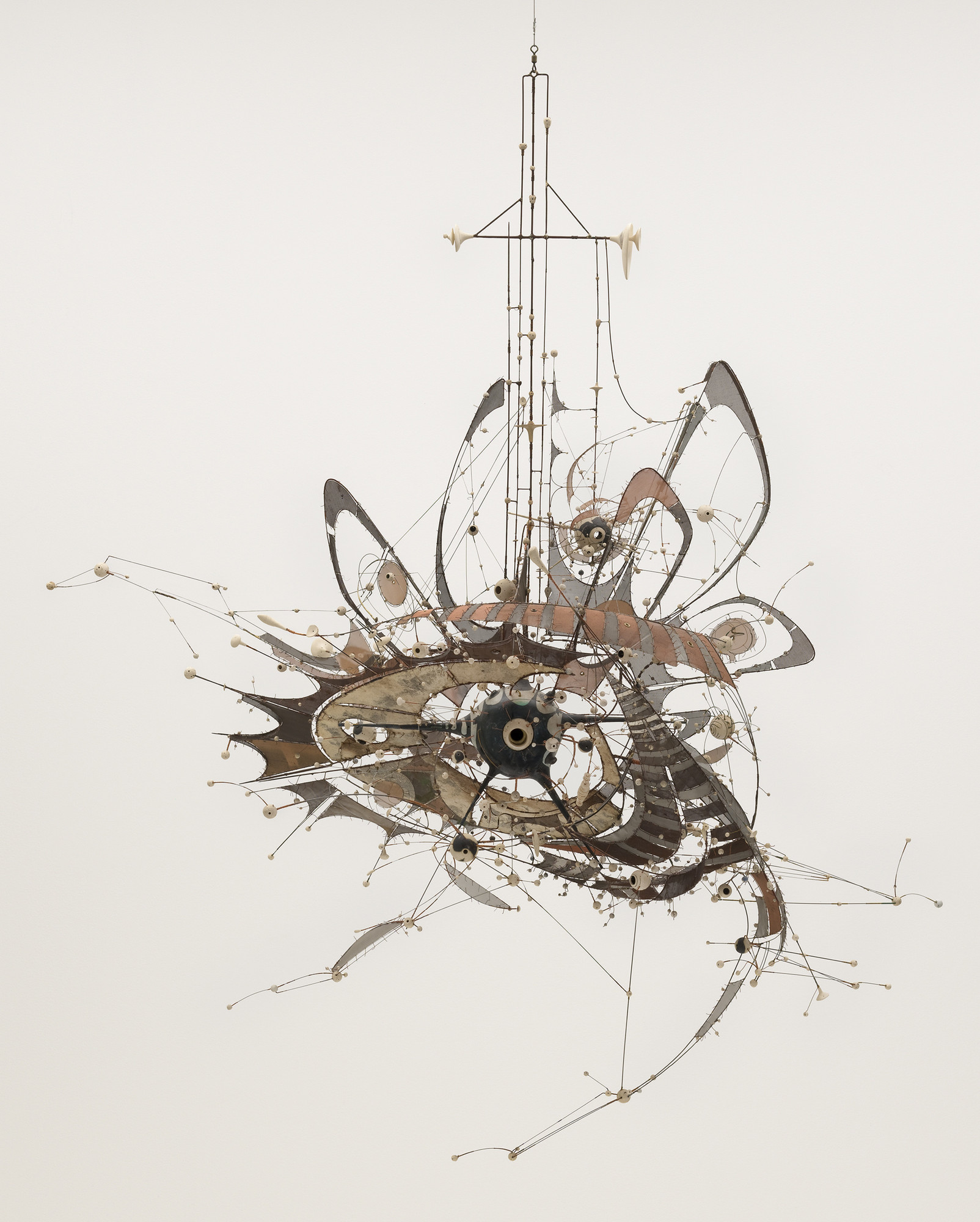 Lee Bontecou. Untitled. 1980–98. Welded steel, porcelain, wire mesh, canvas, wire, and grommets, 7 × 8 × 6′ (213.4 × 243.8 × 182.9 cm). The Museum of Modern Art, New York. Gift of Philip Johnson (by exchange) and the Nina and Gordon Bunshaft Bequest Fund. © 2010 Lee Bontecou