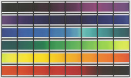"Olafur Eliasson. The Colour Spectrum Series. 2005. Forty-eight framed photogravures, each: 13 9/16 x 17 15/16"" (34.5 x 45.5 cm). Publisher and printer: Niels Borch Jensen, Copenhagen. Edition: 18. The Museum of Modern Art, New York. Riva Castleman Endowment Fund. © 2006 Olafur Eliasson"