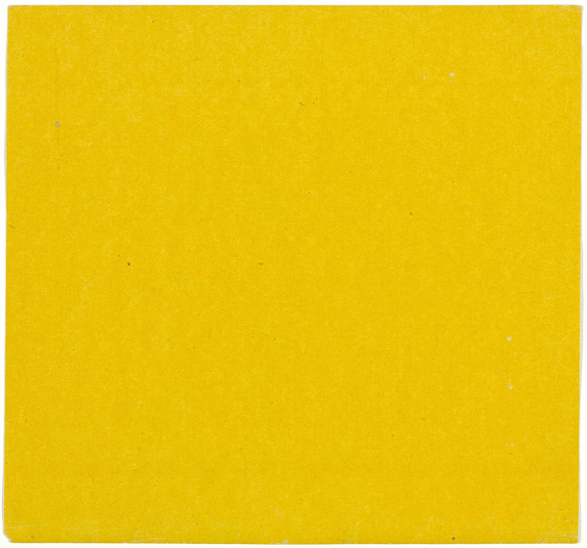 Ellsworth Kelly. Yellow from the series Line Form Color. 1951. Colored Paper. 7 1/2 × 8″ (19 × 20.3 cm). Gift of the artist and purchased with funds provided by Jo Carole and Ronald S. Lauder, Sarah-Ann and Werner H. Kramarsky, Mr. and Mrs. James R. Hedges, IV, Kathy and Richard S. Fuld, Jr. and Committee on Drawings Funds. © 2008 Ellsworth Kelly