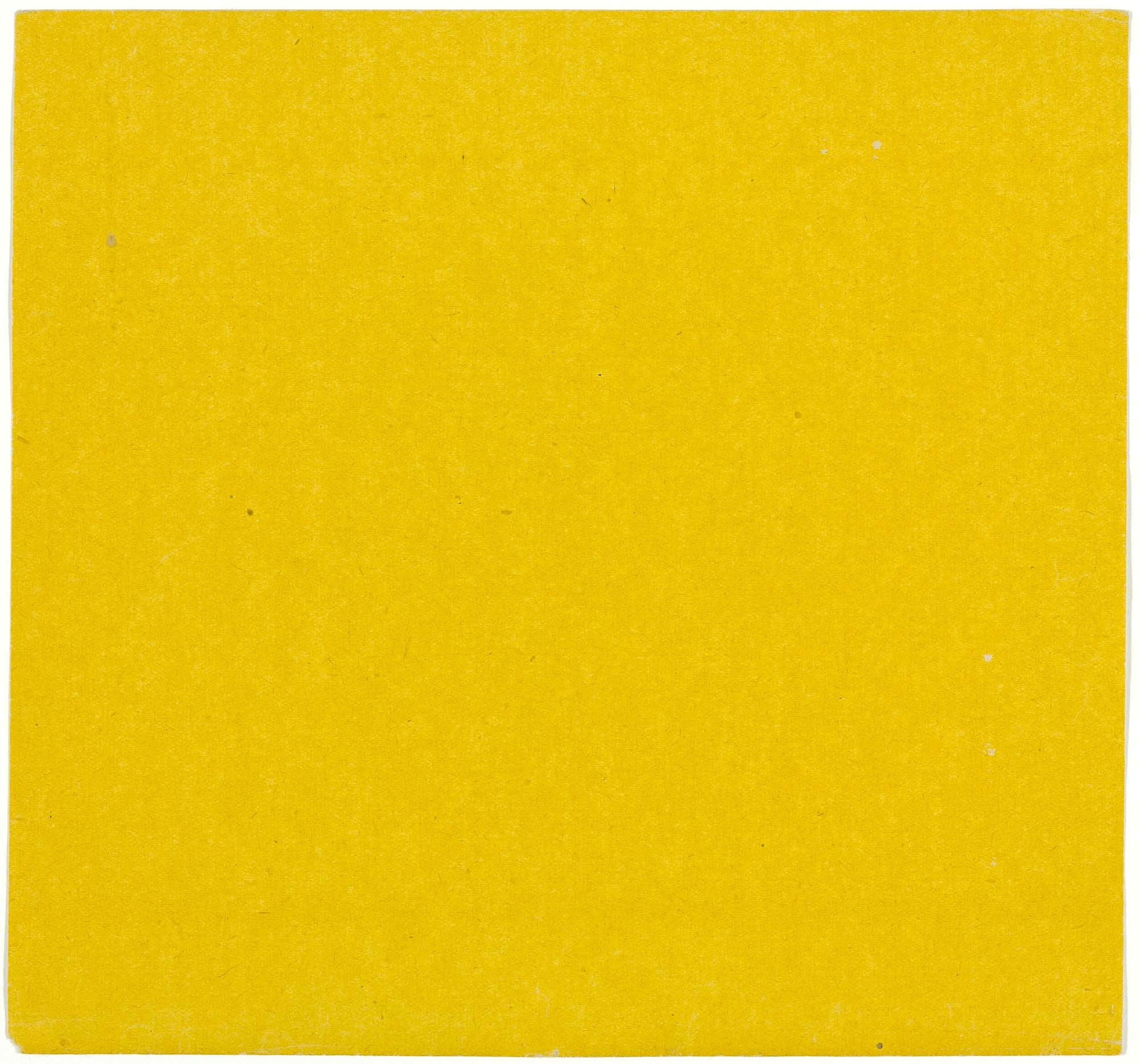 Ellsworth Kelly. Yellow from the series Line Form Color. 1951. Colored Paper. 7 1⁄2 × 8″ (19 × 20.3 cm). Gift of the artist and purchased with funds provided by Jo Carole and Ronald S. Lauder, Sarah-Ann and Werner H. Kramarsky, Mr. and Mrs. James R. Hedges, IV, Kathy and Richard S. Fuld, Jr. and Committee on Drawings Funds. © 2008 Ellsworth Kelly
