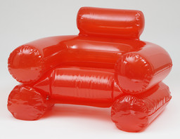 Paolo Lomazzi, Donato D'Urbino, and Jonathan De Pas. Blow Inflatable Armchair. 1967. PVC plastic. Manufactured by Zanotta S.p.A., Italy. The Museum of Modern Art, New York. Gift of the manufacturer