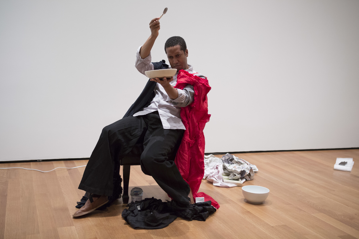 Trajal Harrell. The Return of La Argentina, 2015. The Museum of Modern Art, October 2015. Performer: Trajal Harrell. Photograph © 2015 The Museum of Modern Art, New York. Photo by Julieta Cervantes