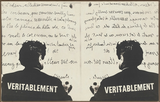"Marcel Broodthaers (Belgian, 1924–1976). Véritablement (Truly). 1968. Photographic canvas, 30 1⁄2 × 48 7⁄16"" (75.5 × 123 cm). The Museum of Modern Art, New York. Partial gift of the Daled Collection and partial purchase through the generosity of Maja Oeri and Hans Bodenmann, Sue and Edgar Wachenheim III, Marlene Hess and James D. Zirin, Agnes Gund, Marie-Josée and Henry R. Kravis, and Jerry I. Speyer and Katherine G. Farley, 2011. © 2016 Estate of Marcel Broodthaers/Artists Rights Society (ARS), New York/SABAM, Brussels"