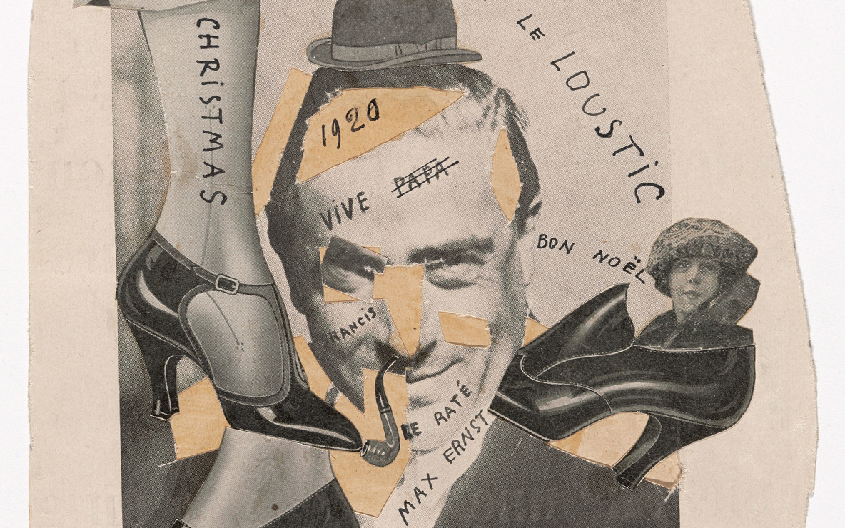Francis Picabia. *Tableau Rastadada.* 1920. Cut-and-pasted printed paper on paper with ink, 7 1⁄2 × 6 3⁄4″ (19 × 17.1 cm). Gift of Abby Aldrich Rockefeller (by exchange), 2014. © 2016 Artists Rights Society (ARS), New York/ADAGP, Paris