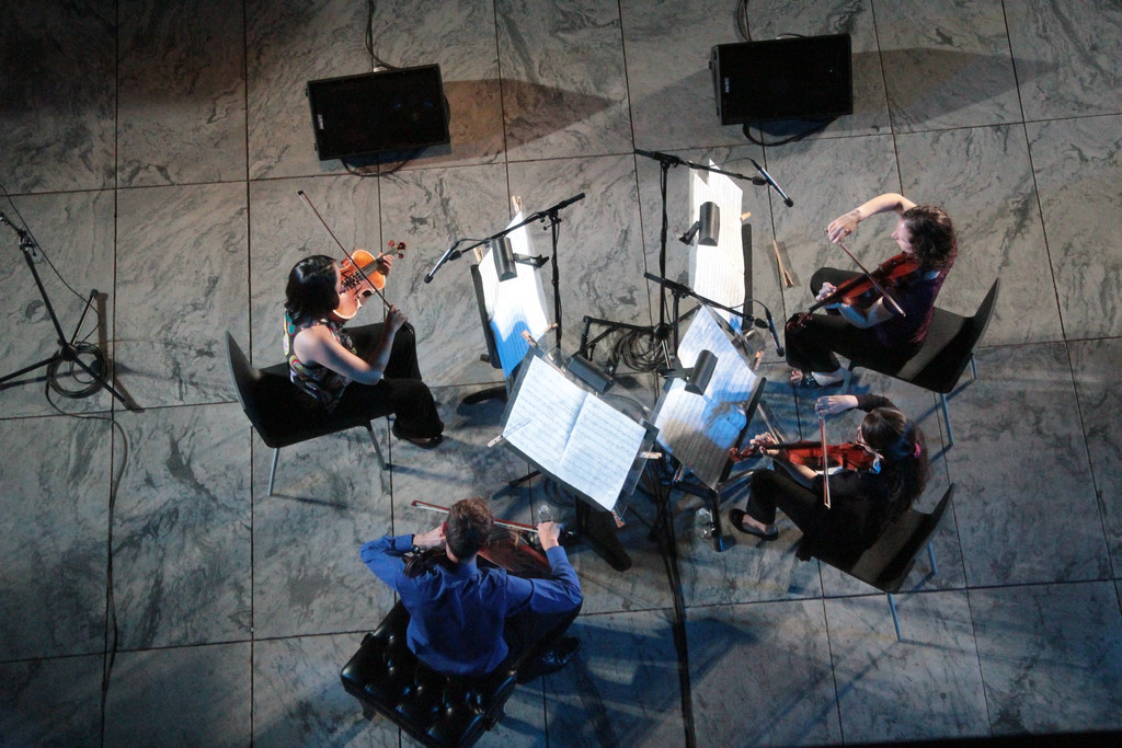 New Juilliard Ensemble String Quartet, 2012. Photo: Ted Sullivan