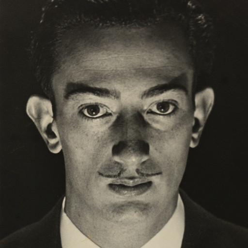 Man Ray (Emmanuel Radnitzky). Salvador Dali. 1929. Sitter: Salvador Dalí. Gelatin silver print, 9 × 7 1/16″ (22.9 × 17.9 cm). Gift of James Thrall Soby. © 2016 Man Ray Trust/Artists Rights Society (ARS), New York/ADAGP, Paris