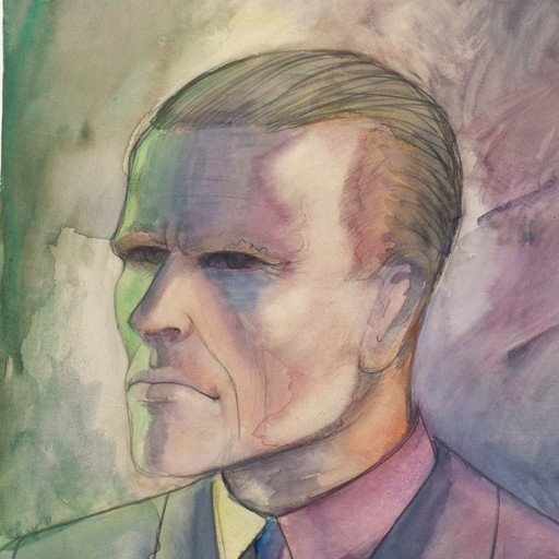 "Otto Dix. Self-Portrait (Selbstporträt). 1922. Watercolor and pencil on paper, 19 3/8 x 15 1/2"" (49.2 x 39.3 cm). Gift of Richard L. Feigen. © 2016 Artists Rights Society (ARS), New York / VG Bild-Kunst, Bonn"