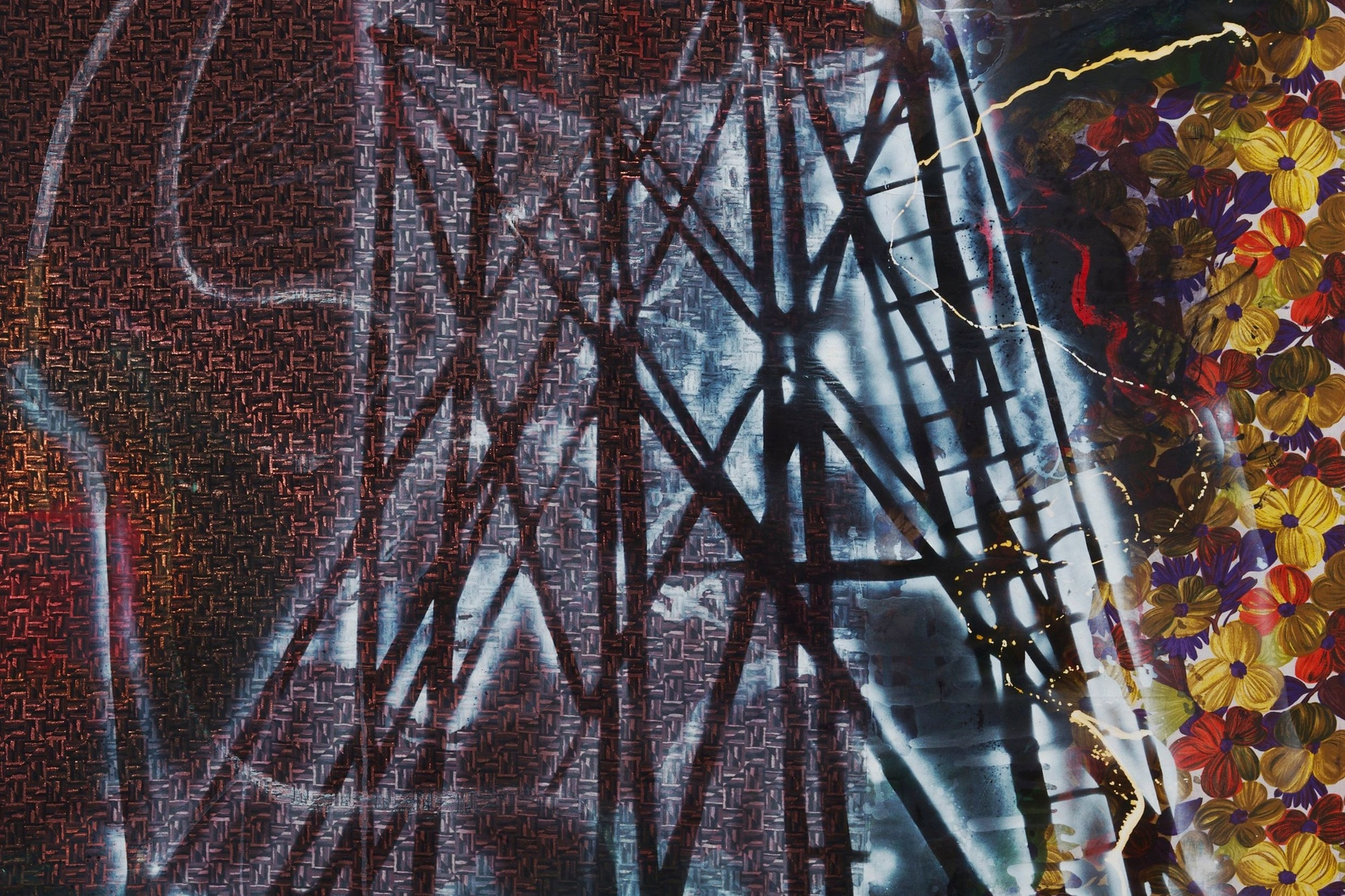 Sigmar Polke. Watchtower (Hochsitz). 1984. Synthetic polymer paints and dry pigment on fabric, 9′ 10″ × 7′ 4½″ (300 × 224.8 cm). The Museum of Modern Art, New York. Fractional and promised gift of Jo Carole and Ronald S. Lauder. © 2013 Estate of Sigmar Polke/Artists Rights Society (ARS), New York/VG Bild-Kunst, Bonn