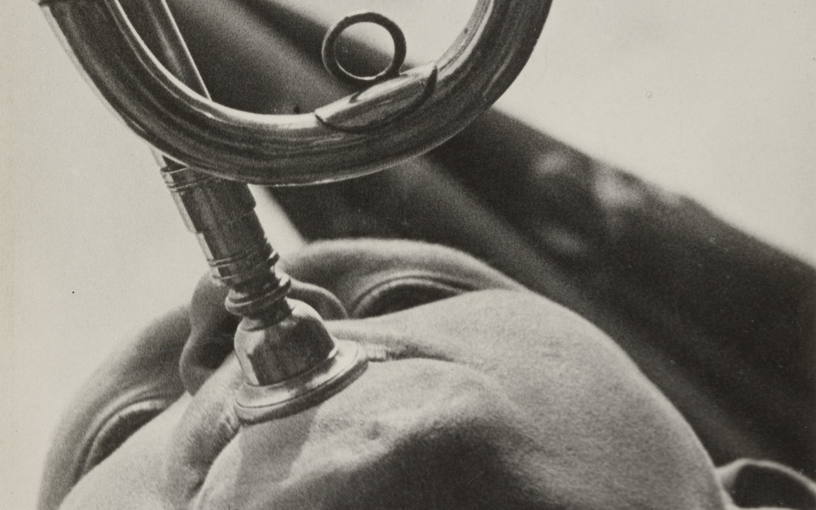 Aleksandr Rodchenko (Russian, 1891–1956). *Pioneer with a Bugle.* 1930. Gelatin silver print. 9 1/4 × 7 1/16″ (23.5 × 18 cm). The Museum of Modern Art, New York. Gift of the Rodchenko Family