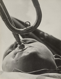 Aleksandr Rodchenko (Russian, 1891–1956). Pioneer with a Bugle. 1930. Gelatin silver print. 9 1/4 × 7 1/16″ (23.5 × 18 cm). The Museum of Modern Art, New York. Gift of the Rodchenko Family