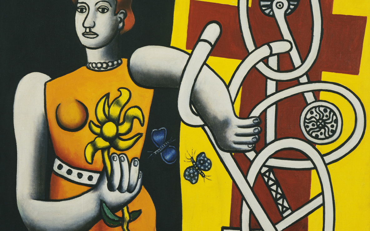 Fernand Léger. *La Grande Julie (Big Julie).* 1945. Oil on canvas. 44 × 50 1/8″ (111.8 × 127.3 cm). The Museum of Modern Art, New York. Acquired through the Lillie P. Bliss Bequest, 1945. Photograph © 1998 The Museum of Modern Art, New York. © Estate of Fernand Léger/Artists Rights Society (ARS), N.Y.