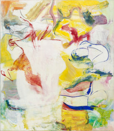 Willem de Kooning. *Pirate (Untitled II).* 1981. Oil on canvas. 88 × 76 3/4″. The Museum of Modern Art, New York. Sidney and Harriet Janis Collection Fund. © 1997 Willem de Kooning Revocable Trust/Artists Rights Society (ARS), New York.