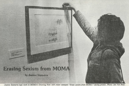 "Joanne Stamerra. ""Erasing Sexism from MOMA"" in <em>Womanart</em>, v. 1, n. 1 , Summer 1976, p. 12–13. Digital Image © 2009 MoMA, N.Y."