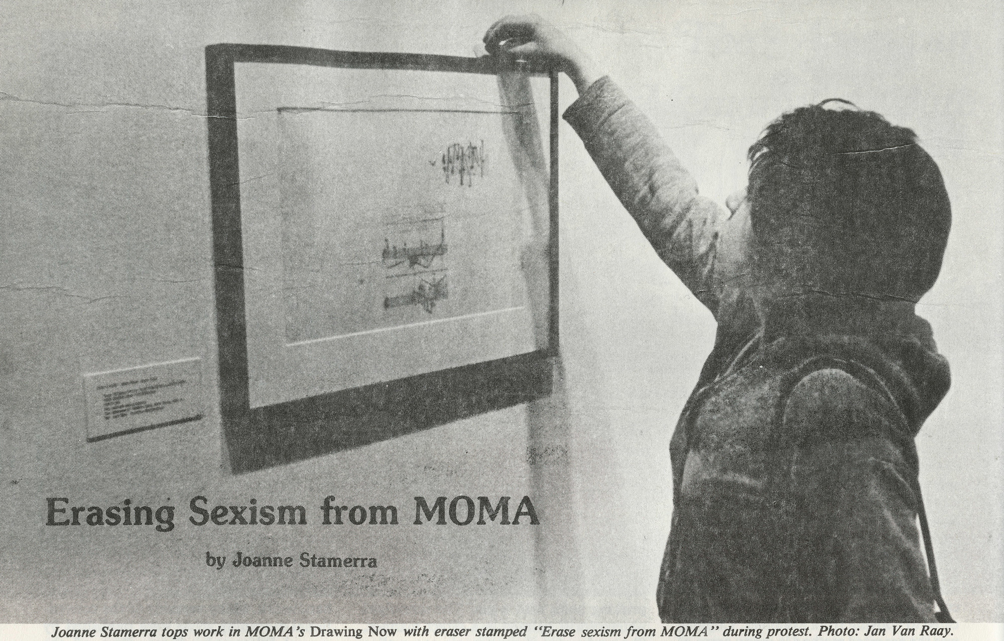 "Joanne Stamerra. ""Erasing Sexism from MOMA"" in Womanart, v. 1, n. 1 , Summer 1976, p. 12–13. Digital Image © 2009 MoMA, N.Y."