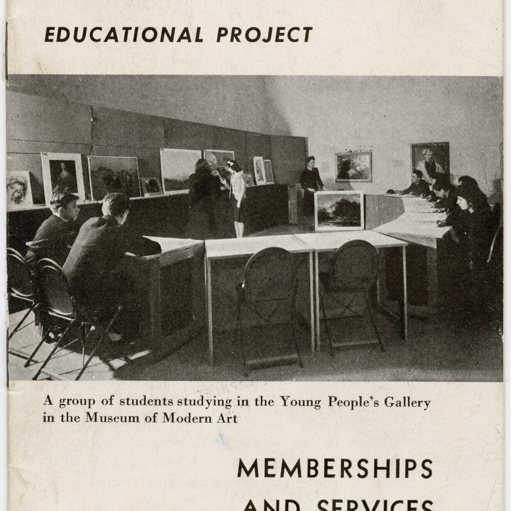 Brochure for the Educational Project at MoMA. 1939