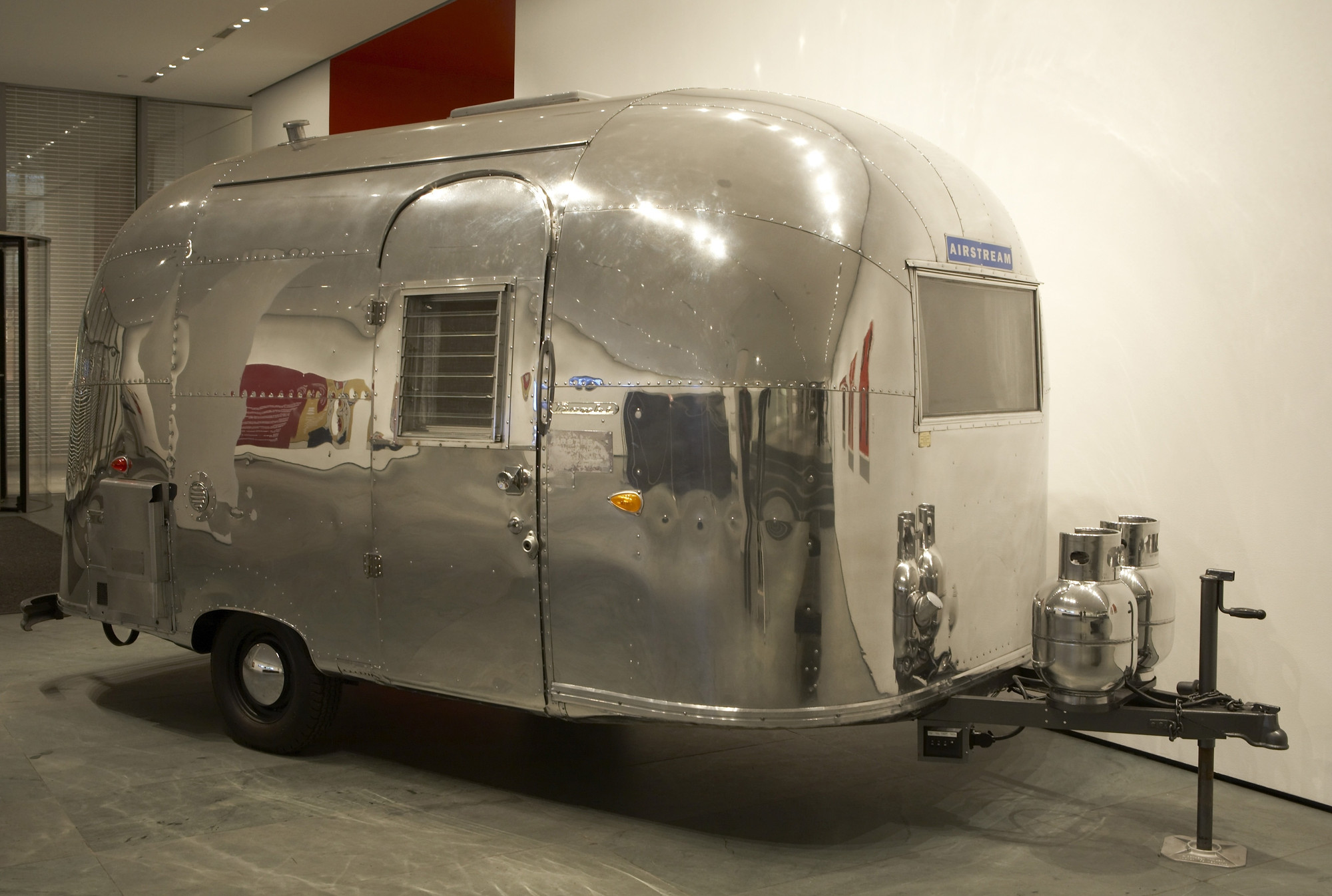 Exhibition Floor Plan D : On the road airstream bambi travel trailer moma