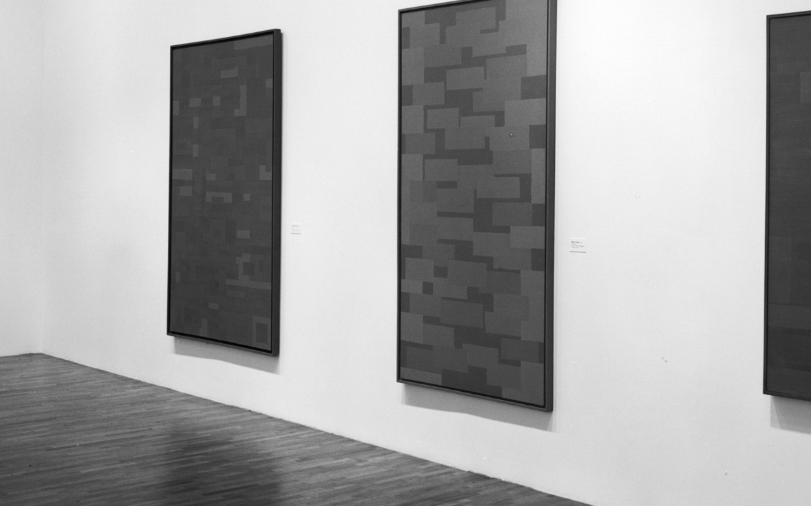 Installation view of *Ad Reinhardt.* at The Museum of Modern Art, New York. Photo: Mali Olatunji