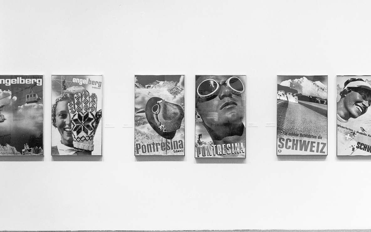 Installation view of *The Graphic Designs of Herbert Matter* at The Museum of Modern Art, New York. Photo: Mali Olatunji