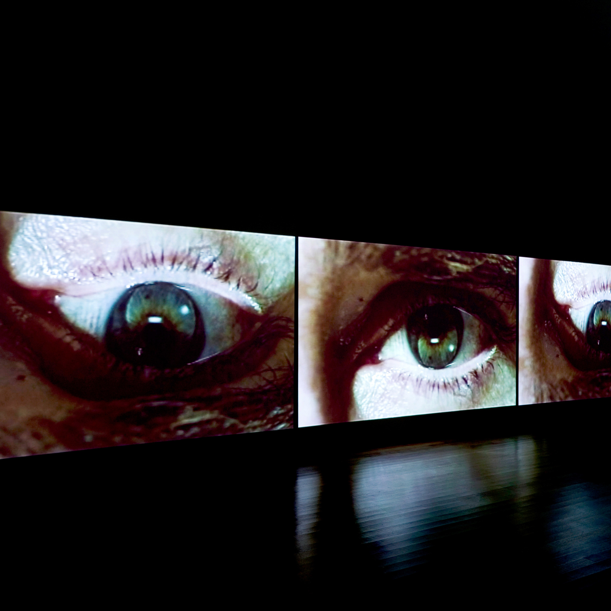 Installation view of Douglas Gordon: Timeline. The Museum of Modern Art, New York. Photo: Jonathan Muzikar