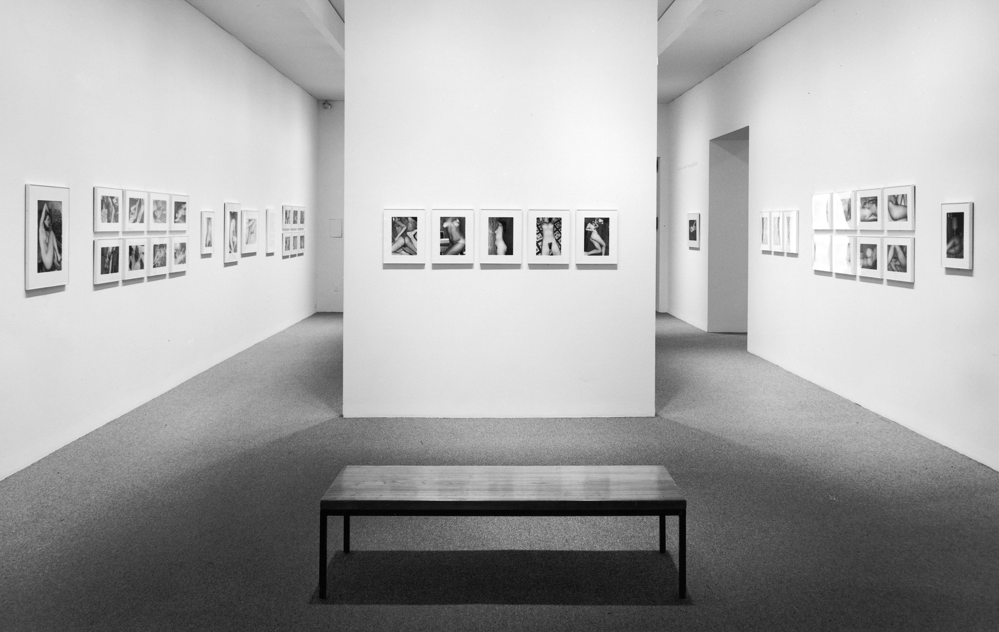 Installation view of Lee Friedlander: Nudes at The Museum of Modern Art, New York. Photo: Mali Olatunji