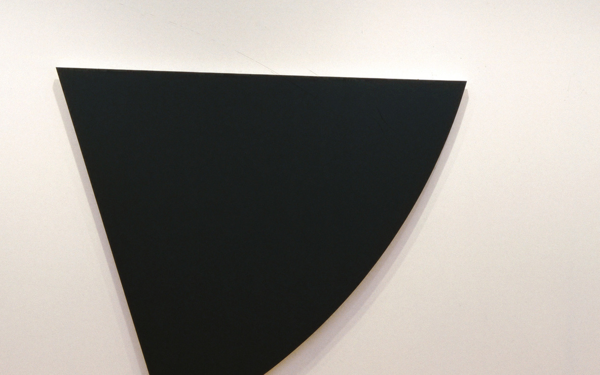 Ellsworth Kelly. *Three Panels: Orange, Dark Gray, Green.* 1986. Oil on canvas, three panels; overall 9′ 8″ × 34′ 4 1/2″ (294.6 × 1047.7 cm). Gift of Douglas S. Cramer Foundation. © 2016 Ellsworth Kelly. Photo: John Wronn
