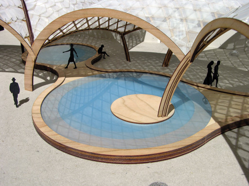 OBRA. BEATFUSE! (rendering). 2006. Young Architects Program 2006, MoMA PS1, New York, winner