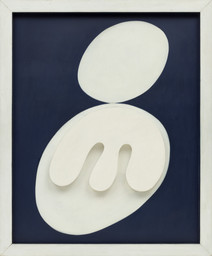 Jean (Hans) Arp. Two Heads. 1929. Painted wood relief, 47 1/4 × 39 1/4″ (120 × 99.7 cm). The Museum of Modern Art, New York. © 2000 ARS, N.Y./VG Bild-Kunst, Bonn