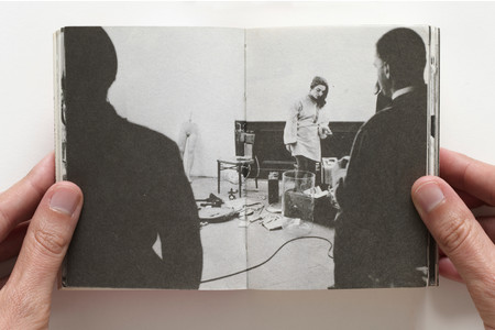 Ute Klophaus. <em>Charlotte Moorman at the Happening, 1965</em> in <em>24 Stunden: Beuys...et al</em> (Itzehoe-Vosskate: Hansen and Hansen, 1965). n.p.