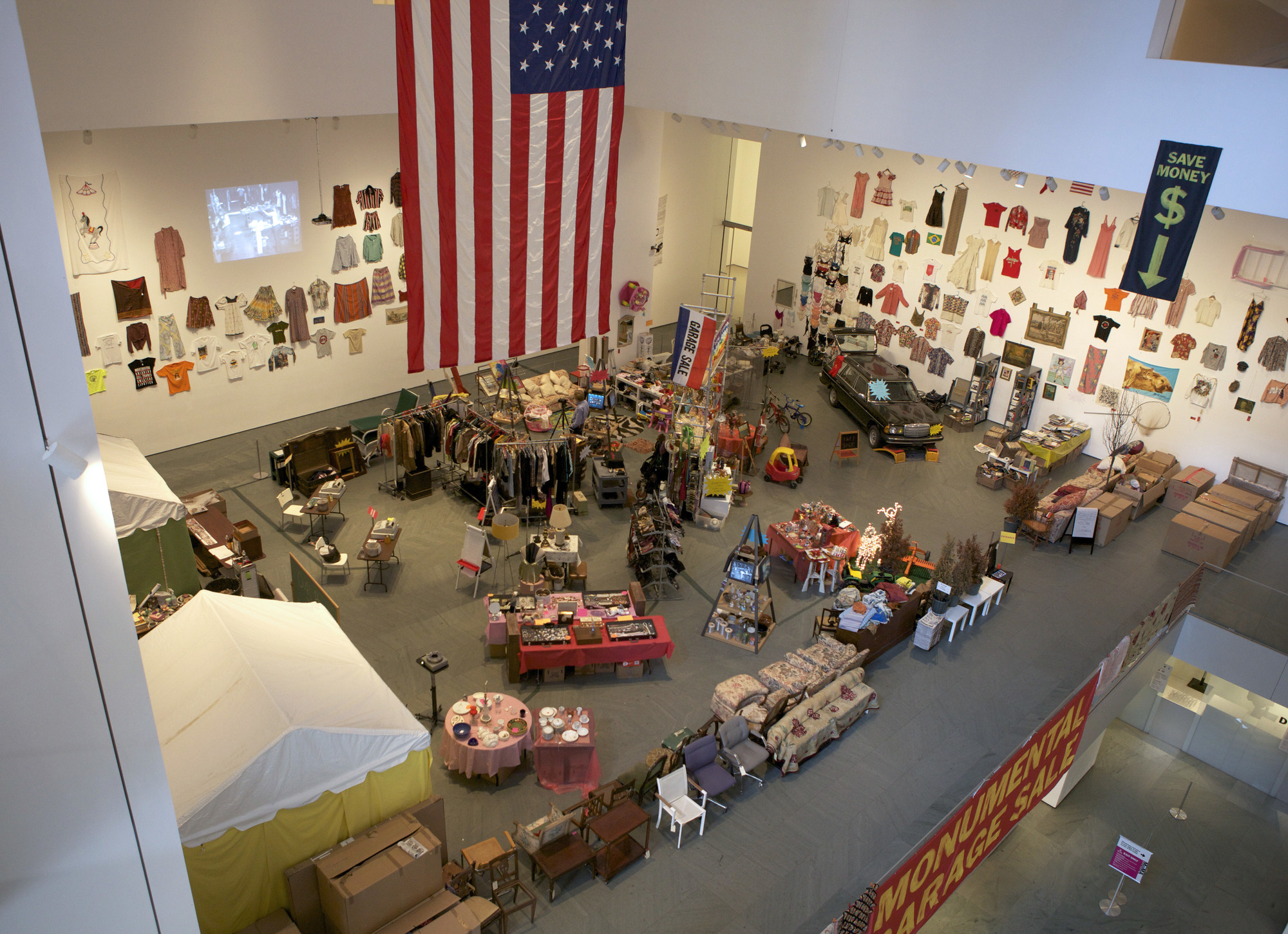Martha Rosler. Meta-Monumental Garage Sale (installation view). 2012. Photo: Shannon Darrough
