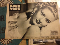 Back cover of Pour Vous magazine, issue 507, August 3, 1938. Film Study Center Special Collections