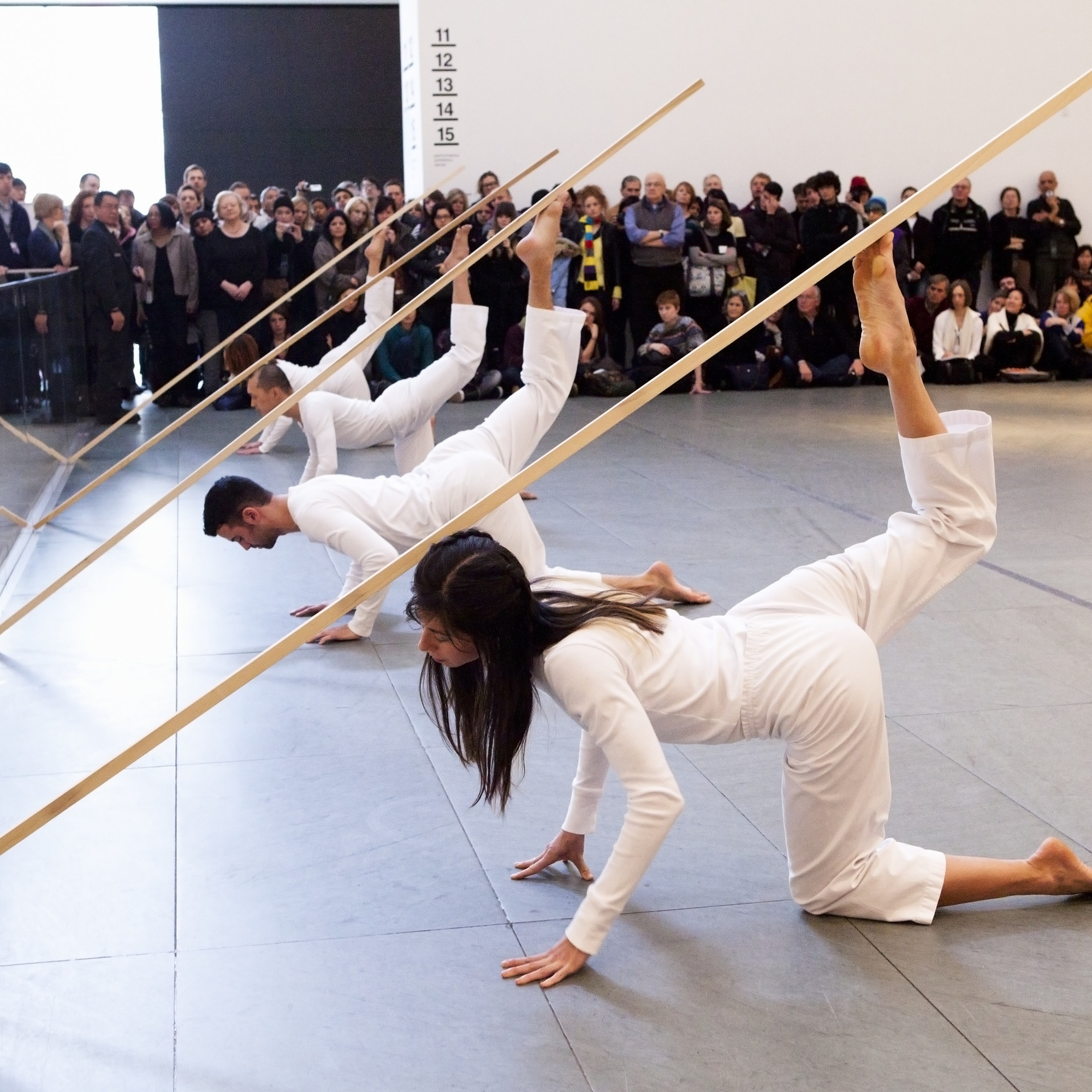 Trisha Brown Dance Company. Sticks. 1973. Performed at The Museum of Modern Art, 2011. © Yi-Chun Wu / The Museum of Modern Art, New York