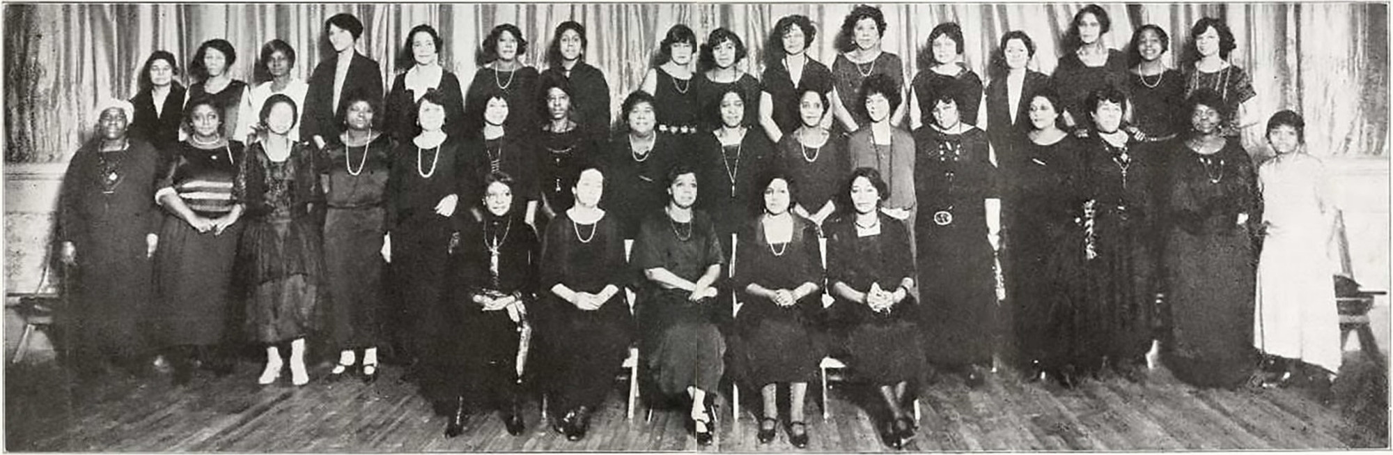 Photograph of members of The Utopia Neighborhood Club, New York City. As published in The Crisis, March 1923. Reference image for Steffani Jemison's Promise Machine, 2014–15