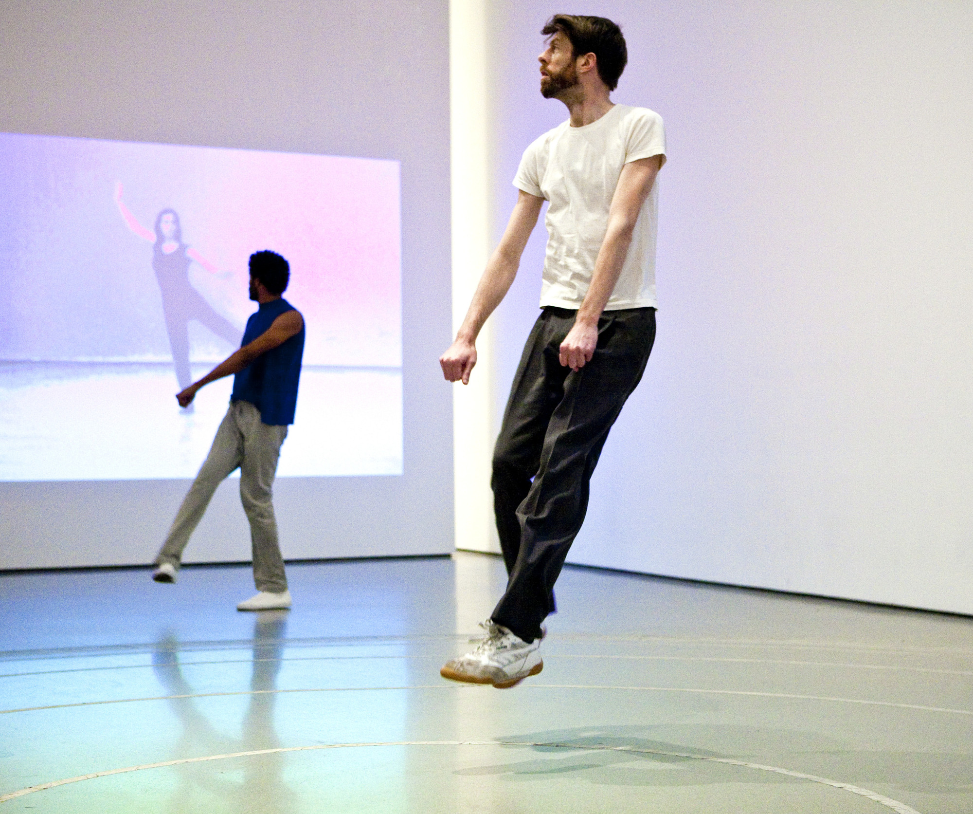 Yvonne Rainer. Trio A. 1965. Performed by Jimmy Robert and Ian White at TheMuseum of Modern Art, 2009. © 2009 Yi-Chun Wu / The Museum of Modern Art