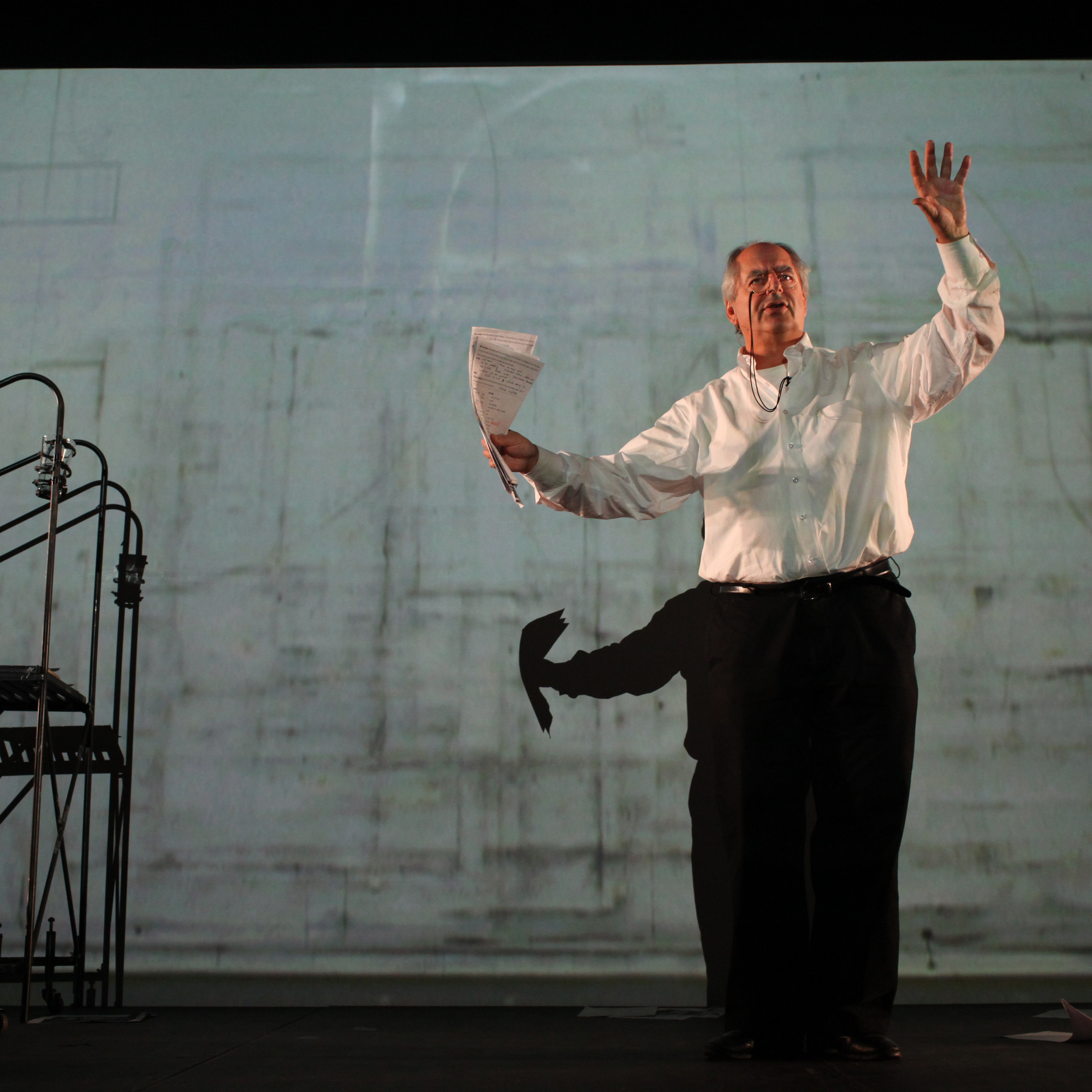 William Kentridge. I am not me, the horse is not mine. 2010. Performed at The Museum of Modern Art, 2010. © 2010 William Kentridge. Photo: Paula Court